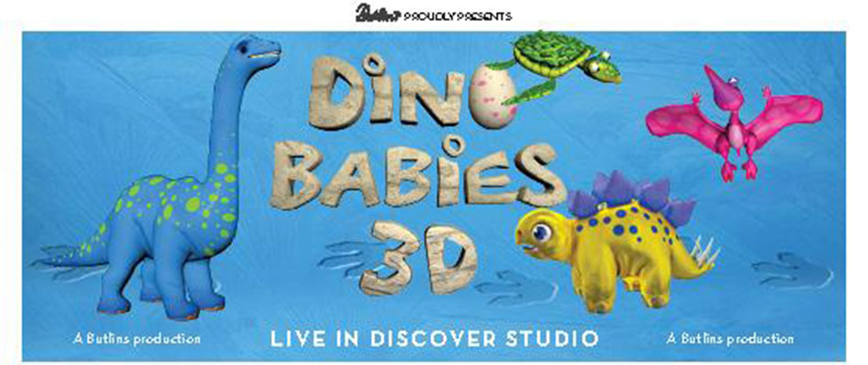 Butlins Dino Babies 3D Show with animatronics