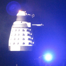 Flying Dalek Illusion - special effects props