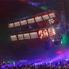 Flying London Bus - special effects slying props
