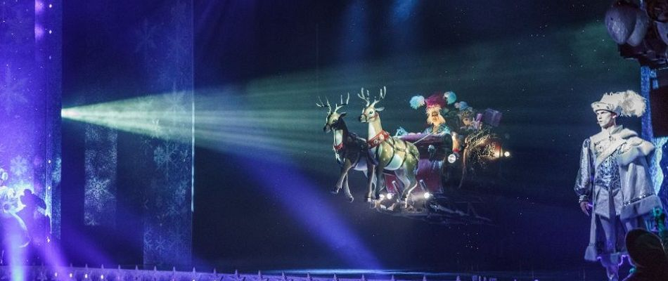 Flying Sleigh & animatronic reindeer - special effects for hire